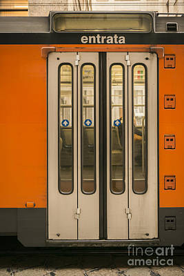 Photograph - Tram Door by Mats Silvan