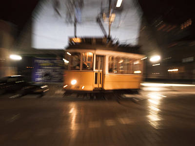 Tram In Lisbon Art Print by Maria Conceicao Pires - Lightfactory