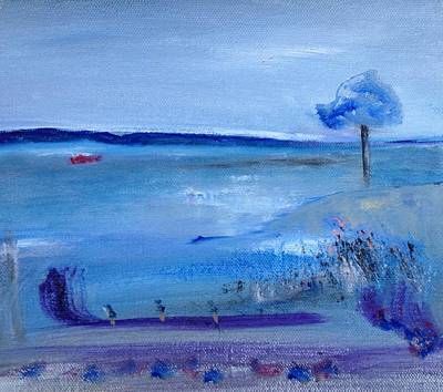 Painting - Tramore Beach by Mary Feeney