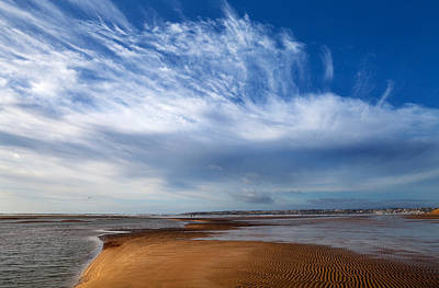 Tramore Strand And Town From The Dunes Art Print by Panoramic Images
