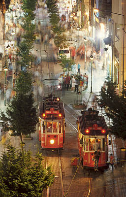 Trams In Beyoglu Art Print