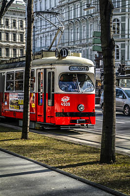 Trams In Vienna Original by Chris Smith