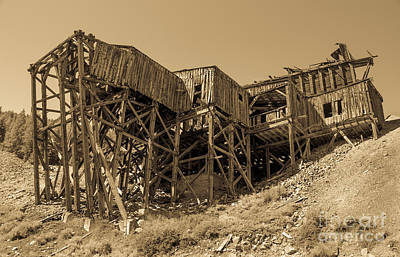 Photograph - Tramway Headhouse by Robert Bales
