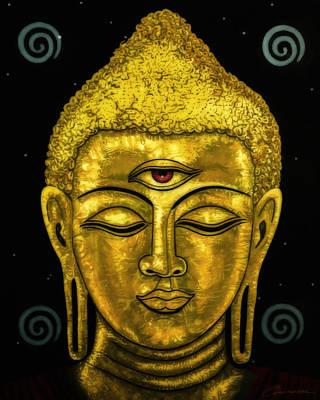 Borg Painting - Tranquil Buddha by Joe Ciccarone