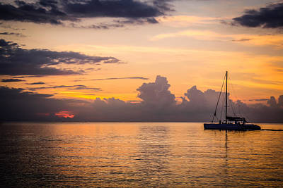 Jamaican Sunset Photograph - Tranquil Cruise by Todd Reese