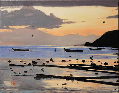 Art Print featuring the painting Tranquil Dawn by Glenn Beasley