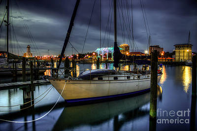 Tranquil Harbour Evening Art Print