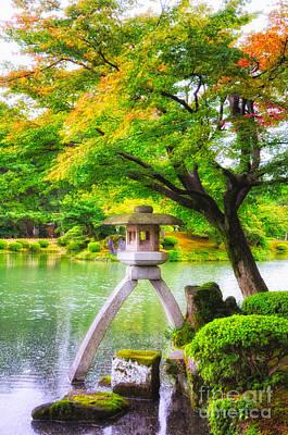 Photograph - Tranquil Japanese Garden - Kenrokuen - Kanazawa - Japan by  David Hill