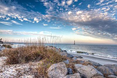 Morris Island Lighthouse Photograph - Tranquil Morris Island by Walt  Baker