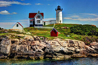 Southern Maine Photograph - Tranquil Nubble Light by Laura Duhaime