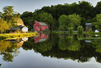Tranquil River Reflections  Art Print by George Oze
