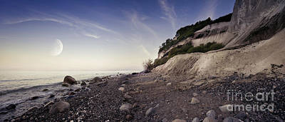 Anne Geddes Collection - Tranquil Seaside And Mons Klint Cliffs by Evgeny Kuklev