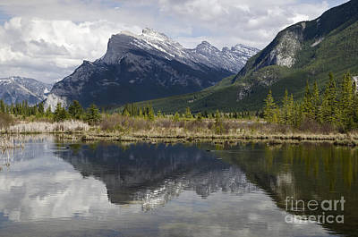 Photograph - Tranquility At Vermilion Lakes by Dee Cresswell
