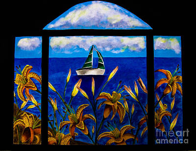 Tiger Lily Mixed Media - Tranquility Bay by Dawn Siegler