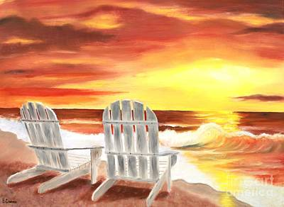 Art Print featuring the painting Tranquility by Bev Conover