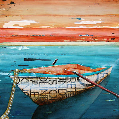 Rowboat Mixed Media - Tranquility by Danny Phillips