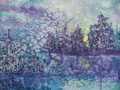 Art Print featuring the painting Tranquility by Ellen Levinson