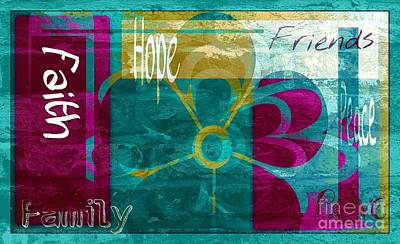 Religious Artist Digital Art - Tranquility In Teal by Cindy McClung