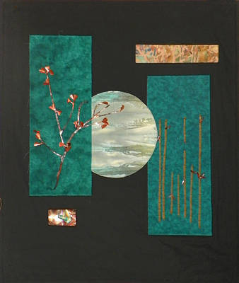Fabric Mixed Media - Tranquility by Jenny Williams