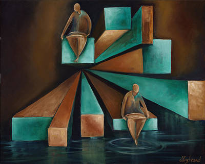 3-dimensional Painting - Tranquility by Judy Lybrand