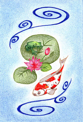 Art Print featuring the drawing Tranquility by Keiko Katsuta