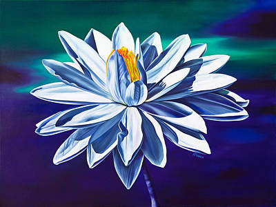Water Lily Art Painting - Tranquility by Kerri Meehan