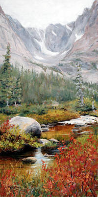 Rocky Mountain National Park Painting - Tranquility by Mary Giacomini