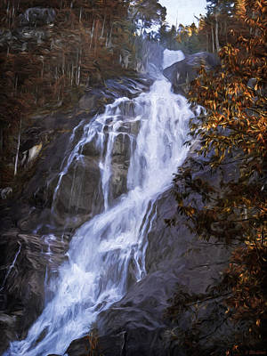 Jordan Painting - Tranquility Of Creation - Waterfall Art by Jordan Blackstone