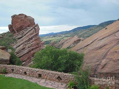 Digital Art - Tranquility Red Rocks by Steven  Pipella