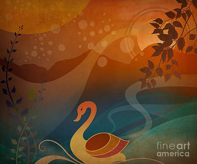 Tranquility Sunset Art Print by Bedros Awak