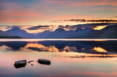 Photograph - Tranquillity Dawn On Lake Mcdonald by Greg Nyquist