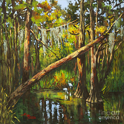 Cypress Swamp Painting - Tranquillity by Dianne Parks