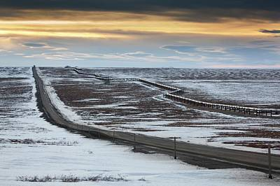 Dalton Highway Photograph - Trans-alaska Pipeline And Dalton Highway by Chris Madeley