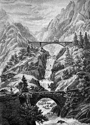 Trans-alpine Railway Art Print by Bildagentur-online/tschanz