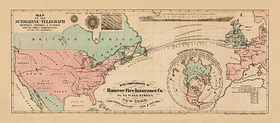 Trans Atlantic Cable 1865 Art Print by Andrew Fare