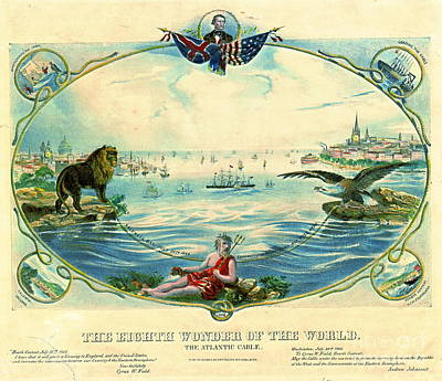 Trans-atlantic Cable 1866 Art Print by Padre Art