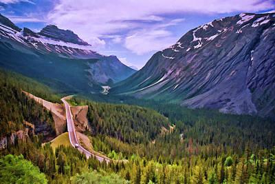 Digital Art - Trans - Canadian Highway by Allen Beatty
