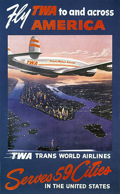 Photograph - Trans-world Airlines 1950s by Granger