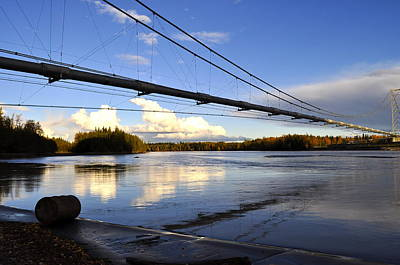 Art Print featuring the photograph Transalaska Pipeline Bridge by Cathy Mahnke