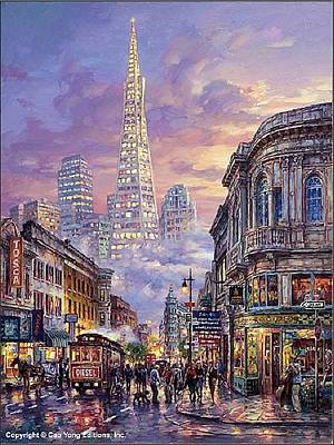 Number 24 Painting - Transamerica Pyramid by Cao Yong