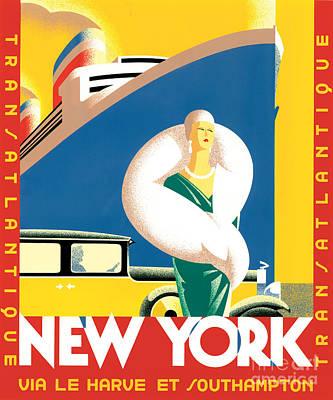 Gatsby Digital Art - Transatlantic by Brian James