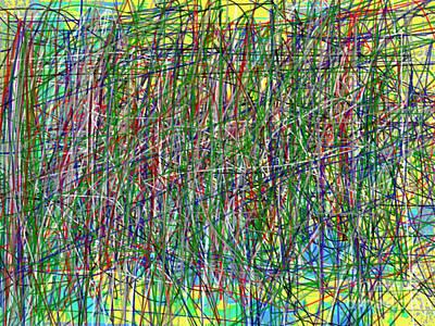 Transcendental Action Painting - Transcendental Action  by J Burns