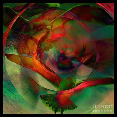 Transdimensional Seagulls  Art Print