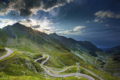 Laurentians Photograph - Transfagarasan Road Sunset by Mircea Costina Photography