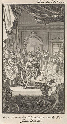 Transfer Of The Spanish Netherlands By Philip II Print by Litz Collection