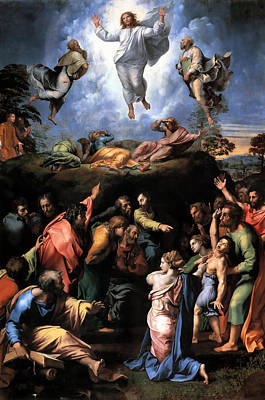 Mixed Media - Transfiguration Reproduction Art Work by Raphael