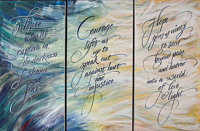 Courage Mixed Media - Transformation From Darkness Into Light by Kathy Barker