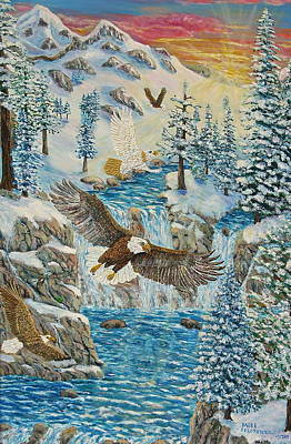 Painting - Transformation Of The Eagles by Mike De Lorenzo