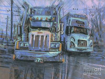Plein Air Drawing - Transformers by Donald Maier