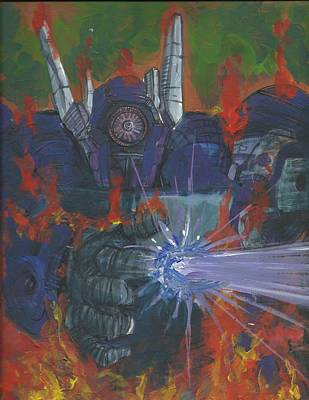 Painting - Transformers Shockwave 01 by Simon Drohen